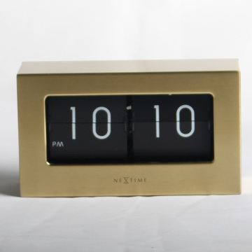 Golden Retro Medium Flip Clock