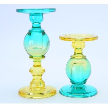 Glass Colorful Beaded Candle Stand