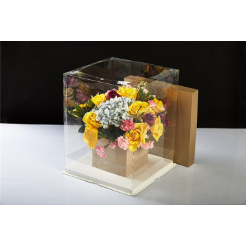 Square Gift Clear Fresh Flower Package Plastic Box