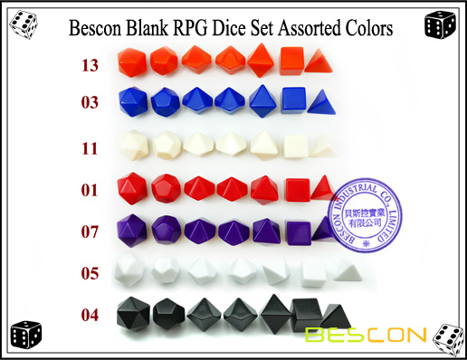 Blank Assorted Colors