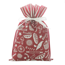 Red Daily PLA Drawstring Gift Wrapping Bag