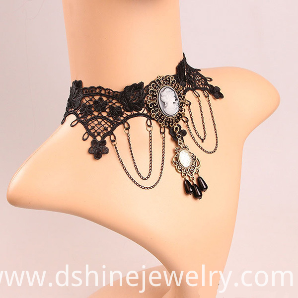 Alloy Women Vintage Lace Necklace