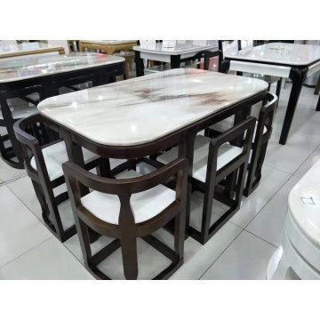 WOODEN DINING TABLE SENT FOR LIVING ROOM
