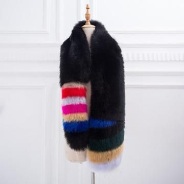 Lady Blinger faux fox fur scarves women large long fake fur shawls and wraps unreal fur pashmina faux fur stoles