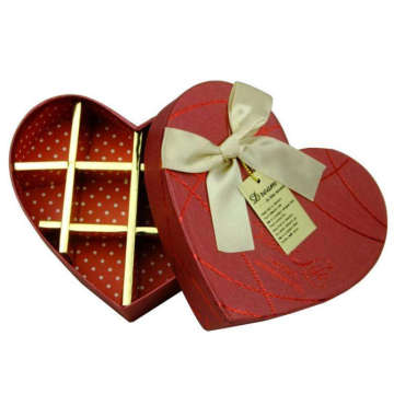 Red Color Chocolate Paperboard Box With Cardboard Divider