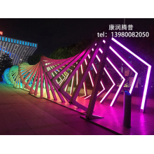 Dynamic Interactive Time Tunnel Light