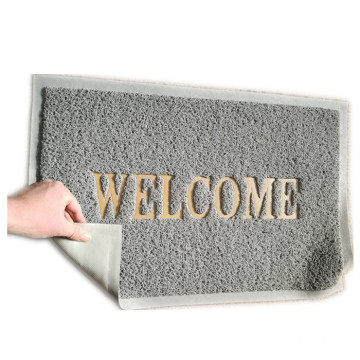Anti slip dust removal PVC welcome door mat