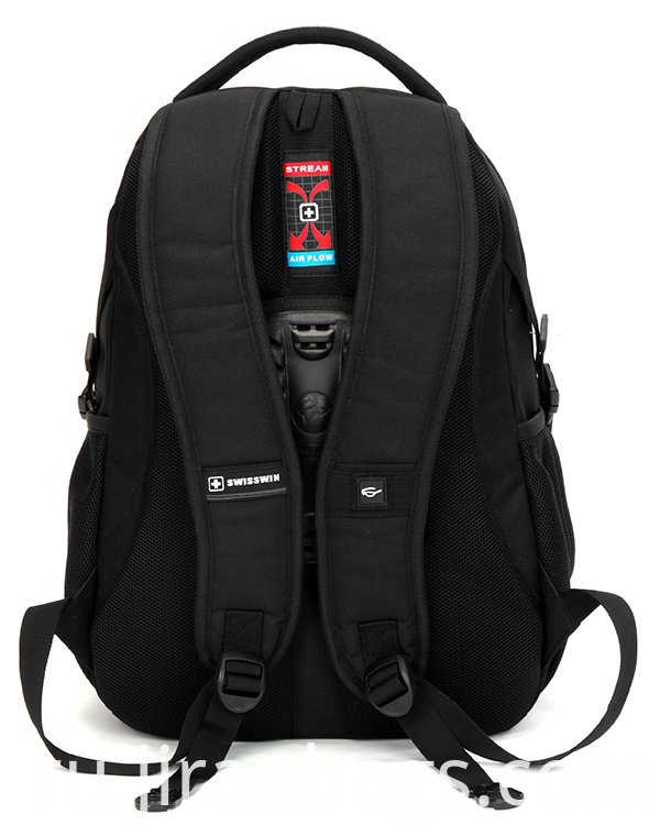 Shoulder lightening backpack with many pockets