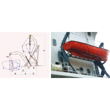 T TYPE GRAVITY LUFFING ARM DAVIT
