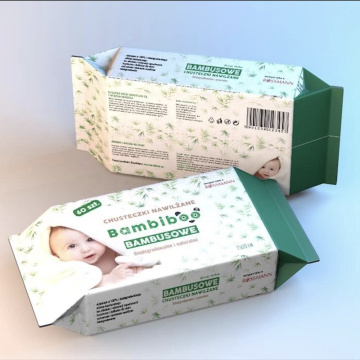 Bamboo Natural Fabric Biodegradable baby wet wipes