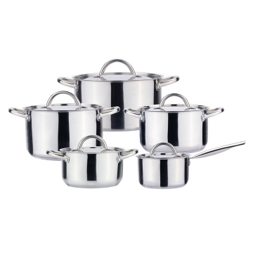 Nesting pot set polish induction cookware set
