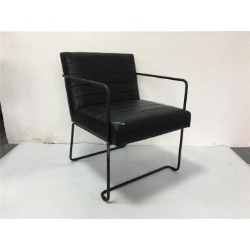 PU dining chair with arms for restaurant