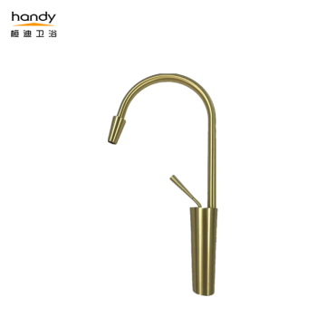 brushed gold brass faucet for kitchen
