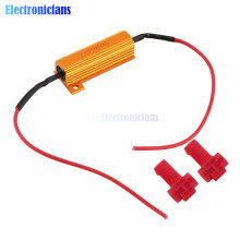 Hot Sale 2pcs 50w Load Resistors LED Flash Rate Turn Signals Light Indicator Controllers Brake Running Motorcycle For 12V Cars