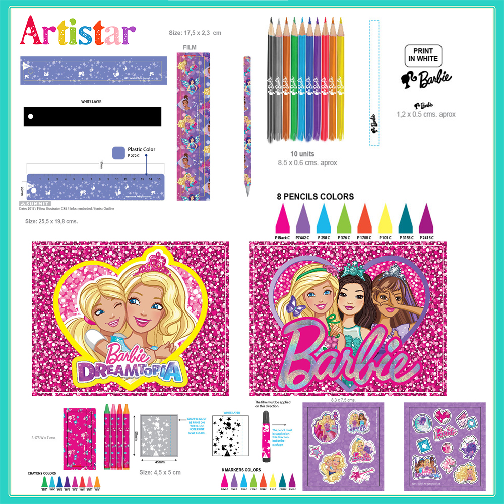 Barbie 52 Pieces Art Set 2