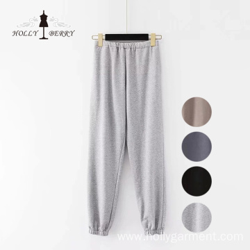 Knitting Loose Joggers Sports Black Yoga Pant Slacks