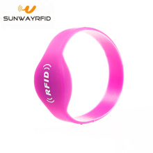 Mifare S50 Closed Type Silicone Rfid Wristbands