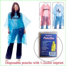 disposable PE colorful rain cape