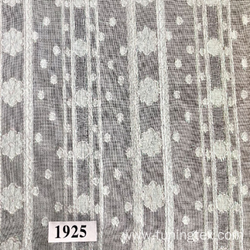 Jacquard Fabric With Stripes And Flowers