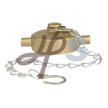 Brass Garden Hose Cap with Chain