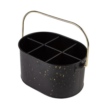 Black kitchen organizer caddy