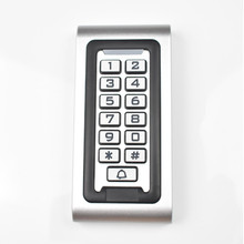 IP68 Keypad RFID 13.56mhz Access Control System Proximity Card Standalone 2000 Users Door Access Control Waterproof Metal Case