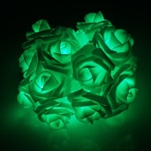 Green Led Rose Flower String Party Light