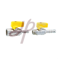 Zinc alloy handle brass gas valve