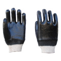 Black PVC Anti-oil coated gloves