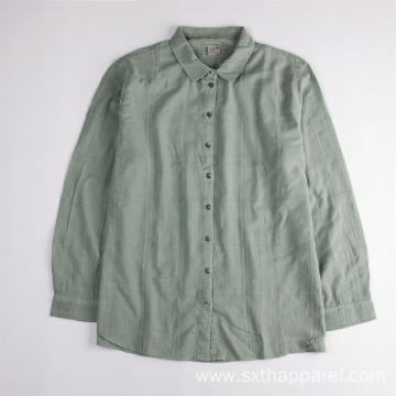 Soft Organic Cotton Long-sleeved Blouse Shirts