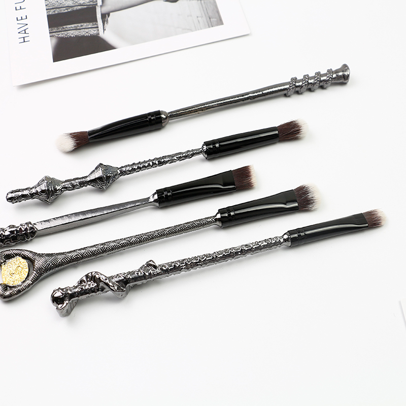 Variety modeling metal handle makeup brush