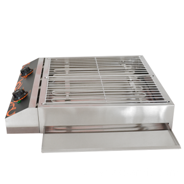 Double Smokeless Stainless Steel Electric Barbecue Grill