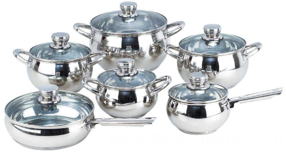 Polish Apple Shape Stainless Steel Cookware Set