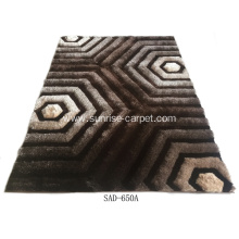 Polyester Silk Shaggy With Design Carpet
