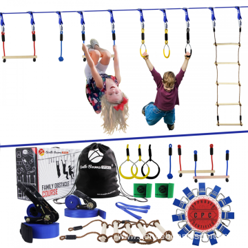 Kids Outdoor Slackline Ninja Line Monkey Bar Set