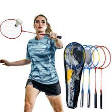 4pcs Professional Badminton Racket Set Badminton Combination Set Aluminum Alloy Ultra-light Badminton Racket Home Entertainment