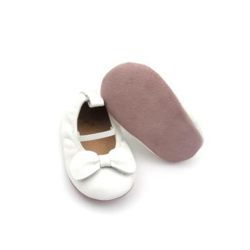 White Cute Princess Bowknot Baby Dress Shoes
