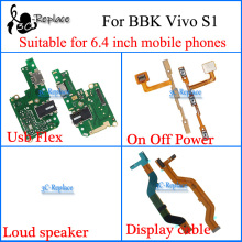 Suitable for 6.4 inch mobile phones For BBK Vivo S1 Usb Flex Motherboard cable Loud speaker On Off Power Volume cable Flex Cable