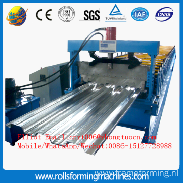 Prefab house floor deck machine