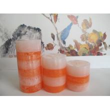 Wholesale Scented Hand Poured Layered Pillar Candle