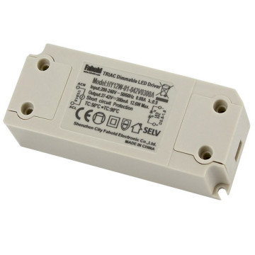 Panel redondo Downlights controlador triac regulable 12W 300mA