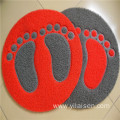 PVC coil foam backing with feet pattern