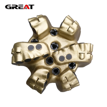 6 blade matrix body diamond PDC bit