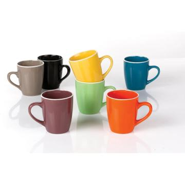 Ceramic color glazed mug 12oz coffee cup