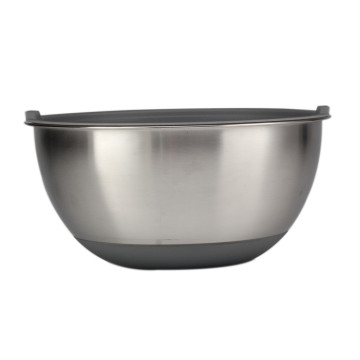 Large Capacity Mixing Bowl Set With Silicone Base