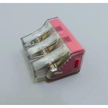 Safe push-in wire connectors in electrical industry