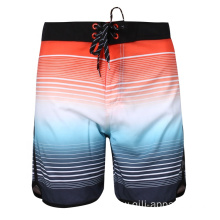Colorful Beach Board Shorts Stretch Men Swimwear