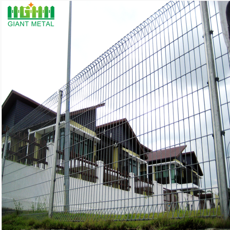 Galvanized Anti-climb Security Roll Top Fence Panels