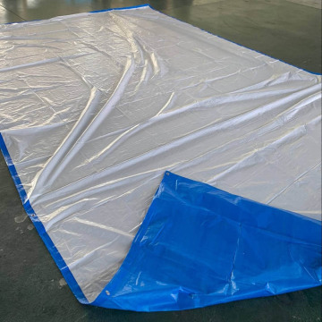 Blue White Tarpaulin With Aluminium Eyelets