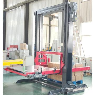 Semi-automatic box palletising machine